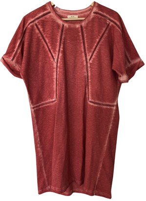 By Zoé Red Cotton Dress for Women