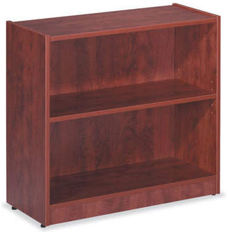 Officesource Bookcase - 2 Shelves, Cherry, 14x32
