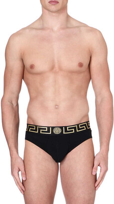 Versace Pack of two Iconic slim-fit stretch-cotton briefs