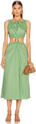 Johanna Ortiz Rowboat Midi Dress in Delirium Green | FWRD