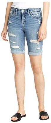 Silver Jeans Co. Plus Size Mid-Rise Suki Bermuda Shorts W53940SGX237 (Indigo) Women's Shorts