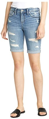 Silver Jeans Co. Suki Mid-Rise Curvy Fit Bermuda Shorts L53940SGX237 (Indigo) Women's Shorts
