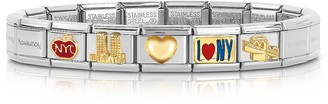Nomination Classic I Love N.Y Golden Stainless Steel Bracelet