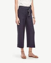 Ann Taylor Petite Cuffed Belted High Waist Wide Leg Pants