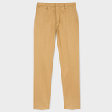 Paul Smith Men's Slim-Fit Tan Stretch-Cotton Twill Trousers