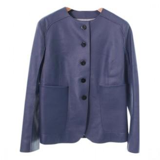 Hermes Blue Leather Jacket for Women