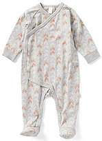 Petit Lem Baby Girls Newborn-6 Months Arrow Printed Asymmetrical Footed Coverall
