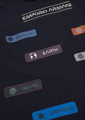 Emporio Armani Space Print Jersey T-Shirt
