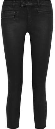 DL1961 Florence Cropped Coated Low-rise Skinny Jeans