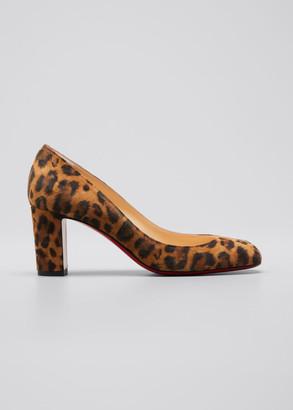 leopard print red bottom heels