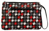 Kalencom Diaper Clutch - Houndstooth Black and Red