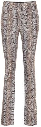 Victoria Beckham Snake-effect jacquard pants