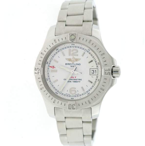 Breitling Colt Oceane A77380 Stainless Steel & Cream Dial 33mm Womens Watch