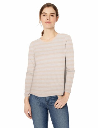 Daily Ritual Amazon Brand Women's Lightweight Lived-In Cotton Long-Sleeve Swing T-Shirt