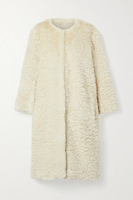 FAZ NOT FUR Chilla Shanghai Faux Fur Coat - Cream