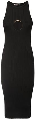 Versace Stretch Viscose Midi Dress