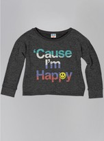 Junk Food Clothing Kids Girls Cause I'm Happy Sweater-char-xl