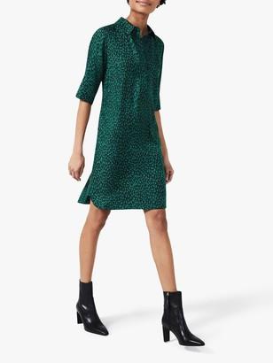 Hobbs Marciella Print Knee Length Dress, Green