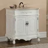 "Isadora 32"" Single Bathroom Vanity Set Astoria Grand Base Color: Antique White"