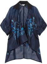 Roland Mouret Albert Oversized Fil Coupé Organza Kimono - Blue