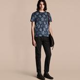 Burberry Peony Rose Print Cotton T-Shirt