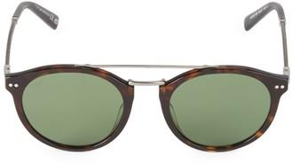 Web Round 50MM Tortoise Sunglasses