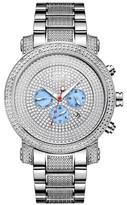 JBW Men's JB-8102-B Victor Japanese Movement Stainless Steel Real Diamond Watch - Silver