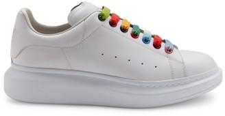 Alexander McQueen Rainbow Leather Platform Sneakers
