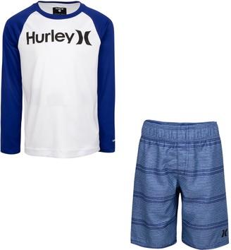 Hurley Boys 4-7 Dri-FIT UPF 50+ Icon Top & Board Shorts Set