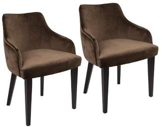 Lumisource Set of 2 Eliza Contemporary Dining Chairs