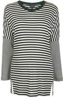 Maternity long sleeve slouch stripe t-shirt