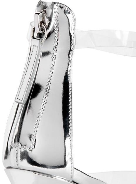 Thumbnail for your product : Giuseppe Zanotti PVC 3-Band Metallic Leather Stiletto Sandals