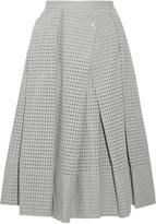 Tibi Riko eyelet cotton midi skirt