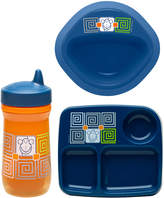 Zak Designs Orange Monkey Three-Piece Dinnerware Set