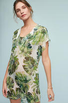 Shoshanna Banana Leaf Silk Tunic