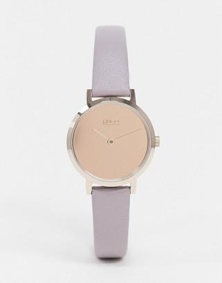 HUGO BOSS cherish leather watch in purple 1540083