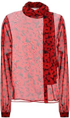 Saint Laurent Printed silk blouse