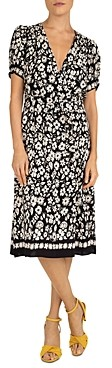 Gerard Darel Stefania Floral Print Wrap Dress