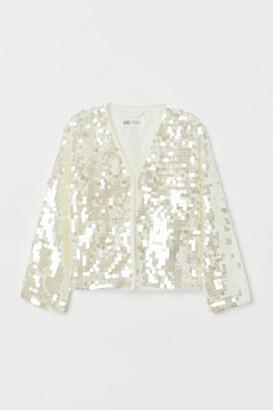 H&M Sequined Cardigan - White