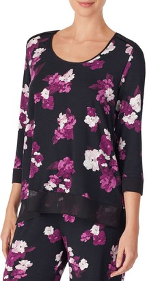 Donna Karan Sleepwear Printed Pajama Top