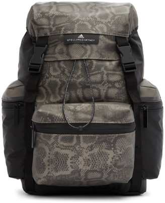 adidas by Stella McCartney Black and Grey Coated Backpack