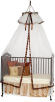 Heirloom Ivory & Brown Dome with Ruffle