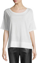 Vince Round-Neck Short-Sleeve Cotton Tee