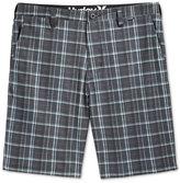 "Hurley Men's Davis Flat-Front Plaid 10"" Shorts"