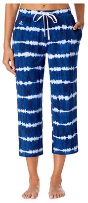 Lauren Ralph Lauren Separate Capri Pants (Blue Print) Women's Pajama