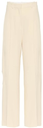 Victoria Beckham High-rise stretch crepe pants