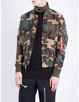 Alpha Industries Camouflage-print Shell Bomber Jacket
