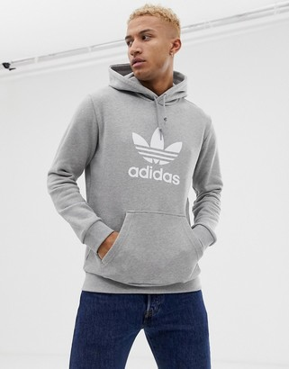 adidas Hoodie With Trefoil Logo in grey DT7963