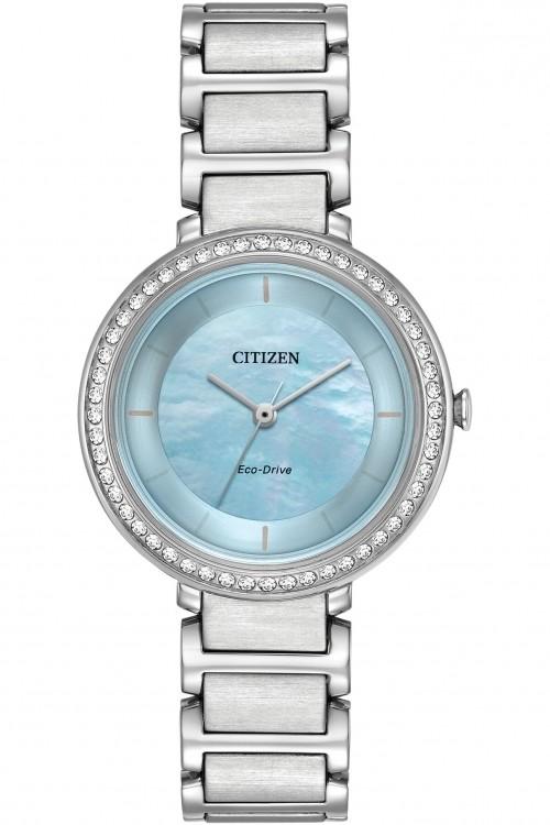 Citizen Ladies Silhouette Crystal Watch EM0480-52N