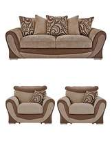 Fashion World Renata Three Seater plus Two Chairs